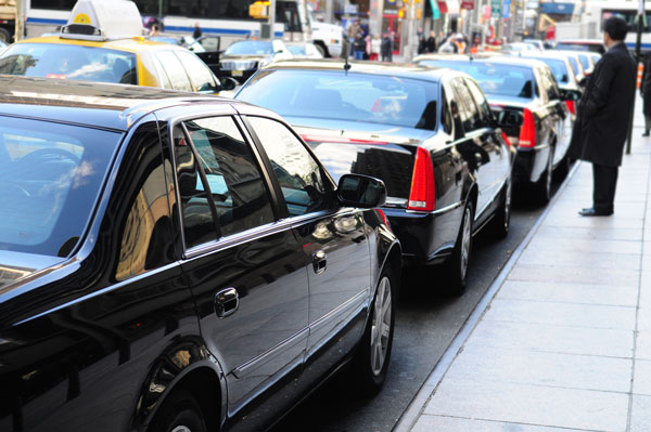 Limos parked street side